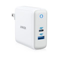 Powerport Atom Iii 2 Ports Wall Charger With Iq 3.0 - White