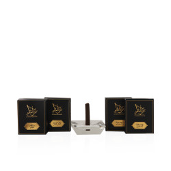 Al Hakimi Combo Pack of  Heavenly, Smell Me & Abeer - 30 Sticks with a Crystal Stand