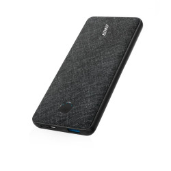 Powercore Metro Slim Powerbank 10000 Mah - Black Fabric